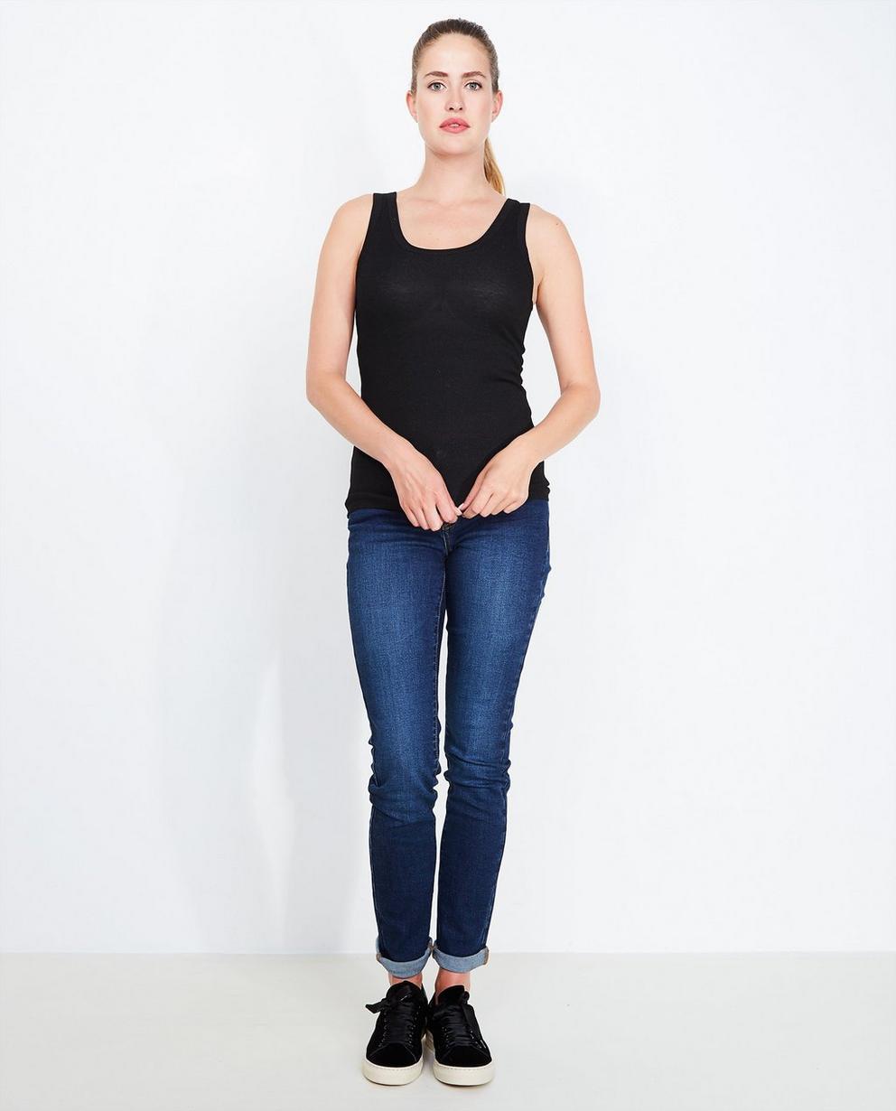 Donkerblauwe slim jeans - met wassing - JBC